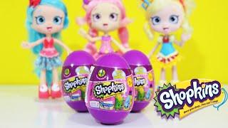 getlinkyoutube.com-TOYSBR Play Doh Brinquedos Shopkins Season 2 Surprise Eggs usando Massinhas Playdough