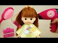Baby doll and hair shop toys, play hair cut hair dry