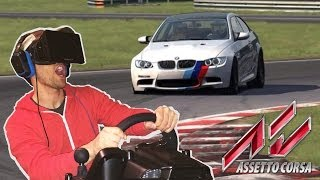 getlinkyoutube.com-Assetto Corsa Oculus Rift With Actual Headset Point Of View Virtual Reality