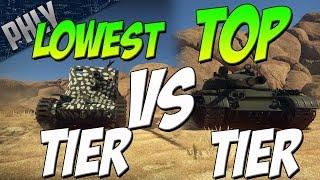 getlinkyoutube.com-LOWEST Tier Tank VS TOP Tier Tanks (War Thunder Tanks Gameplay)