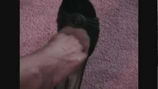 getlinkyoutube.com-JULIE'S PANTYHOSE FEET DANGLING IN MULES