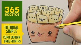 getlinkyoutube.com-COMO DIBUJAR UN PAQUETE DE PATATAS KAWAII PASO A PASO - Dibujos kawaii faciles - How to draw a chips