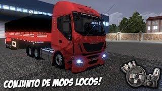 getlinkyoutube.com-Euro Truck Simulator 2 - Iveco Hi Way Brasileiro - Ronco diretão - Só mod chique! - Com Logitech G27