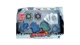 getlinkyoutube.com-Beyblade Metal Fury Legendary Bladers 3 Pack Unboxing