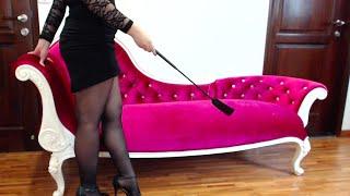 getlinkyoutube.com-Femdom Whip & High Heels Worship - Extreme Feet Worship!