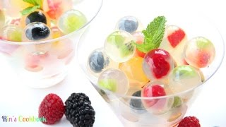 getlinkyoutube.com-How to make Fruit Jelly Bubbles! วุ้นลูกแก้วผลไม้