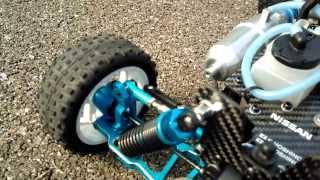 getlinkyoutube.com-Aluminium upgrade HSP  Backwash REDCAT Carbon Fiber RC nitro car 1/10 with G18 engine