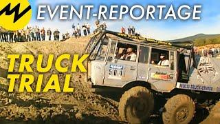 getlinkyoutube.com-Event-Reportage: Truck Trial: Offroad-Monster graben sich präzise durch Unmengen von Schlamm