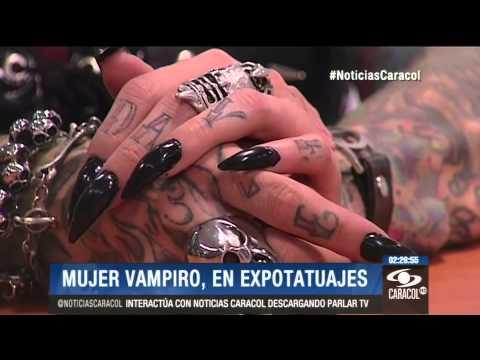Mujer Vampiro, todo un hit en Expotatuajes de Medellín - 6 de Junio de 2014