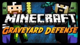 getlinkyoutube.com-Minecraft: Graveyard Defense w/ CavemanFilms! - Pt. 1 (Zombie Mini-Game)