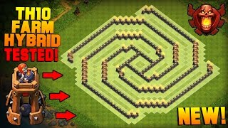 getlinkyoutube.com-Clash of Clans | BEST TH10 Farming Base with BOMB TOWER | The Sun | Town Hall 10 Hybrid Base [2016]