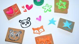 getlinkyoutube.com-DIY sellos de goma EVA - DIY craft foam stamps