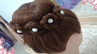 getlinkyoutube.com-peinados recogidos faciles para cabello largo bonitos y rapidos con trenzas para niña para fiestas 6