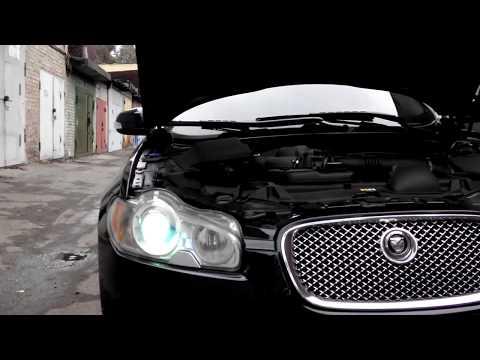 Jaguar XF Замена ксеноновых ламп