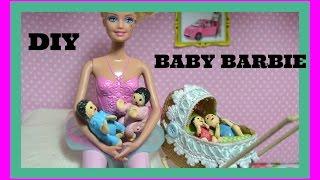 getlinkyoutube.com-Como fazer Baby, bebê para boneca Barbie