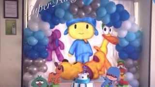 getlinkyoutube.com-decoración de pocoyo para cumpleaños - con globos - SP DECORACIONES