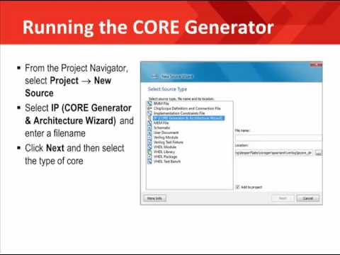 How to use Core Generator Software System - (Ch 1) -7SYz05L0lFU