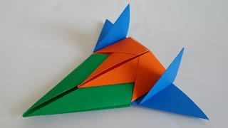 getlinkyoutube.com-3단 합체 우주선 비행기 종이접기 (How to make a paper spaceship - Origami)