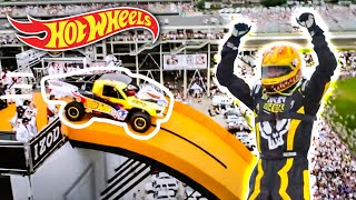 getlinkyoutube.com-Team Hot Wheels -  The Yellow Driver's World Record Jump (Tanner Foust) | Hot Wheels