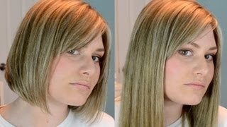 getlinkyoutube.com-Clip Extensions In Short Blunt Hair!