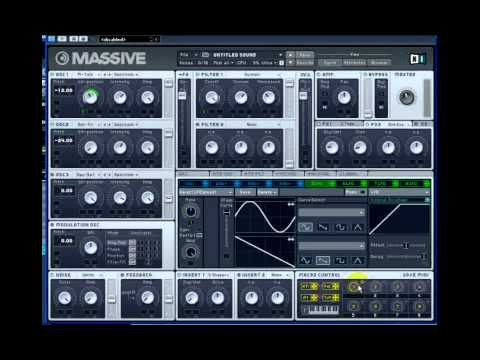 Dubstep NI Massive Bass talking Wobble Tutorial Skrillex Excision Datsik Rusko Doctor P