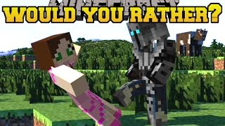 getlinkyoutube.com-Minecraft: WOULD YOU RATHER? (MORE INSANE QUESTIONS!!) Mini-Game