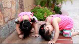 getlinkyoutube.com-HOW TO Best Yoga Exercise for Twins Infant Babies Toddlers