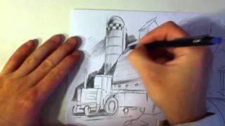 getlinkyoutube.com-Drawing a Farm
