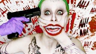 getlinkyoutube.com-Joker SUICIDE SQUAD ♤ (make up tutorial) DC Comics