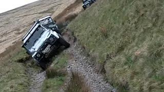 getlinkyoutube.com-Extreme Lean Land Rover Tilting Over @ Nant-y-Moch, Devils Bridge