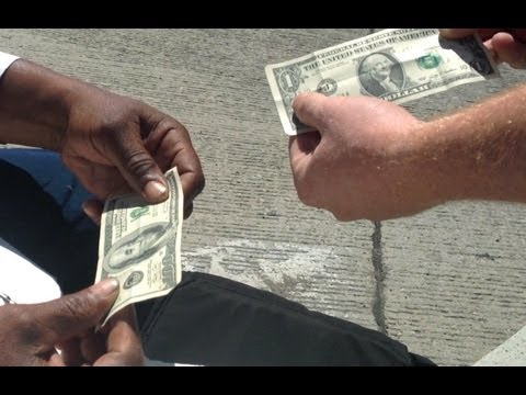 Money Magic Trick For Homeless