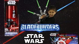 getlinkyoutube.com-Star Wars Blade Builders Jedi Master & Kylo Ren Lightsaber Sets