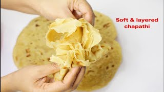 How-to-make-Perfect-Soft-layered-chapathiSoft-chapati-full-of-layers width=