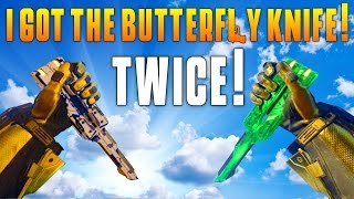 getlinkyoutube.com-I GOT THE BUTTERFLY KNIFE! TWICE! (BO3 DLC Weapon Gameplay) Funny Moments & Highlights! - MatMicMar