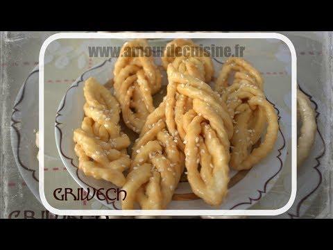 griwech / griweche, gateau algerien au miel
