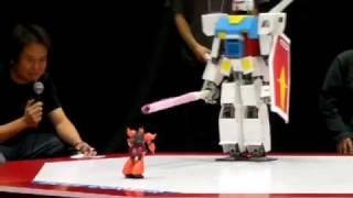 getlinkyoutube.com-The 2nd Sunrise Hero Robot Battle, 2nd stage;  GAT vs 1/100 MS-14S