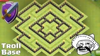 getlinkyoutube.com-Clash of clans - Town hall 8 (TH8) Troll Hybrid Base -  Protect Dark Elixir/TH inside