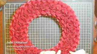 getlinkyoutube.com-Paper Rose Wreath Tutorial