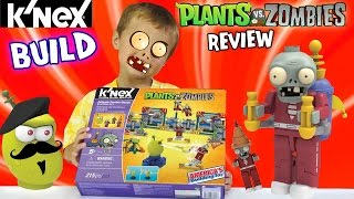 getlinkyoutube.com-Plants vs. Zombies K'nex: Chase builds Jetpack Zombie Attack Set w/ Laser Bean (Fun Review)