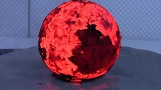 getlinkyoutube.com-Red Hot Cannonball in Water/Ice