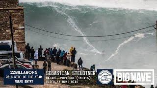 getlinkyoutube.com-Sebastian Steudtner at Nazare 3  - 2016 Billabong Ride of the Year Entry - WSL Big Wave Awards