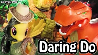 getlinkyoutube.com-My Little Pony Mania Daring Do Dazzle VS T-Rex Dinosaur Fashion Style MLP Toy Review Parody