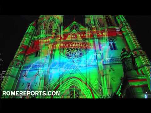 Sidney greets Christmas with spectacular light and sound display at cathedral