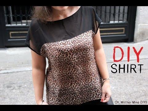 DIY Cómo hacer blusa estampada de leopardo