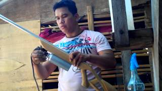 getlinkyoutube.com-marble rifle home made. powered by denatured alcohol,with demo.