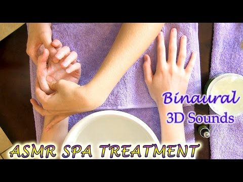 Binaural ASMR Spa Treatment & Hand Massage Skincare products, Softly Spoken & Whispers