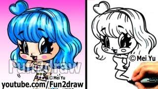 getlinkyoutube.com-Katy Perry Chibi Drawing Tutorial - Super Cute & Fun! - Popular Cartoon Drawing Video - Fun2draw