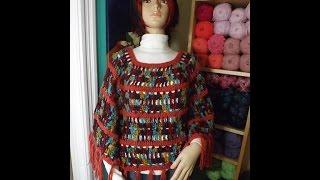 getlinkyoutube.com-Crochet capa o poncho bien facil - Con Ruby Stedman