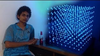 "The Build of an 8x8x8 ""LED CUBE"" by Noel Mascarenhas"