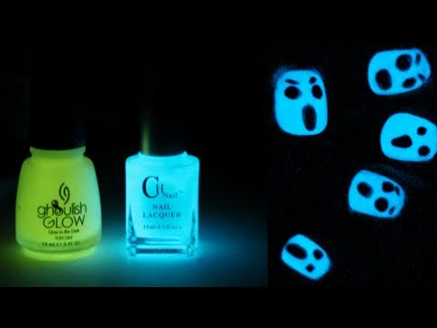 Glow in the Dark Halloween Nail Art | TotallyCoolNails